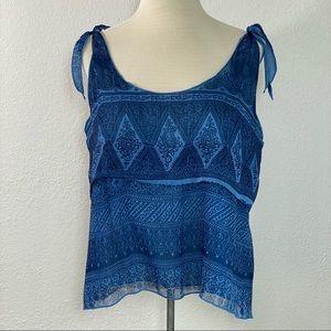 Converse woman's blue semi sheer Cami tank top